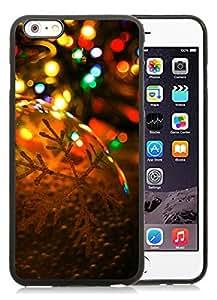 Individualization iPhone 6 Plus Case,Christmas lights Black iPhone 6 Plus 5.5 TPU Case 2