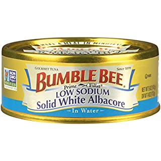 BUMBLE BEE Prime Fillet Solid White Albacore Tuna in Water, Low Sodium, Canned Tuna Fish, High Protein Food, 5 Ounce Can