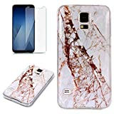 for Samsung Galaxy S5 Marble Case with Screen
