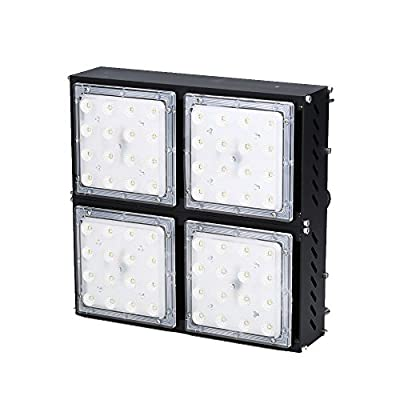 Indee 160W Dimming LED High Bay Lighting, Super Bright Commercial Lighting,18400lm, Beam Angle 90 degrees Industrial Lighting Waterproof, Warm White, 3000K, LED High Bay Lights [Energy Class A+]