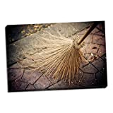 Thai Broom I, Fine Art Photograph By: Erin Berzel; One 36x24in Hand-Stretched Canvas