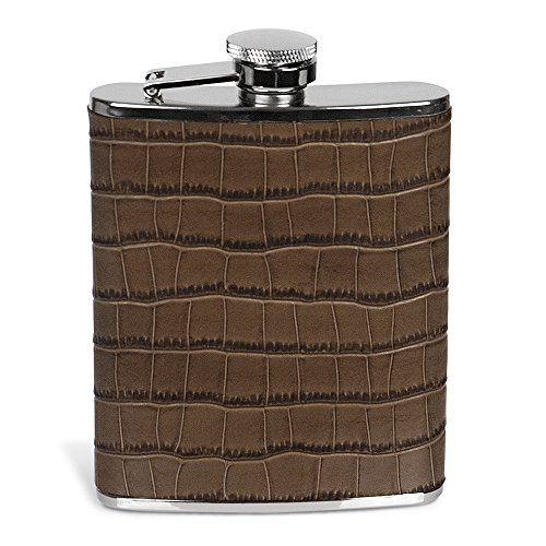 (Epic Products Croc-Style Leather Flask, 6-Ounce)
