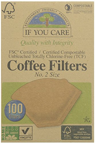 - If You Care FSC Unbleached No 2 Coffee Filters, 100 Count