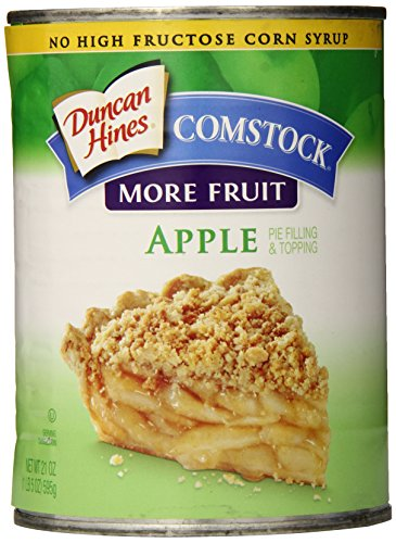 (Duncan Hines Comstock Pie Filling and Topping, Apple, 21 Ounce (Pack of 12) )