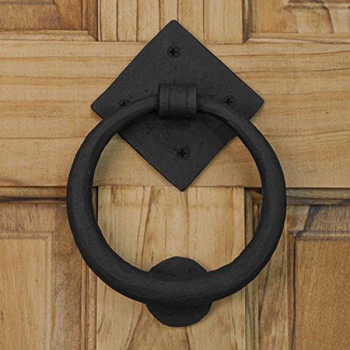 (Casa Hardware Elkhart Hand - Forged Iron Door Knocker - Black Powder Coat)