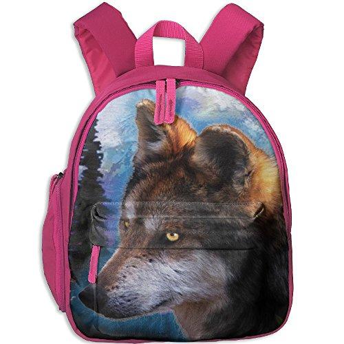 DoBag Kid's Night Wolf Fantasy School Shoulder Bag Backpack Outdoor Daypack For - Day Glasses Shopping Night Online