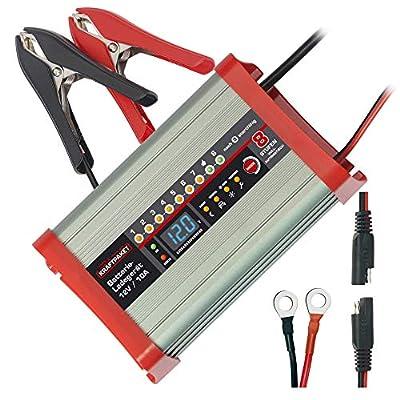 Dino KRAFTPAKET 136321 Batterieladegerät 10A-12V mit Camping-Funktion Nachtmodus und Memory-Speicher für KFZ PKW Auto…