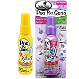 4 Pk. Poo Be Gone Toilet Perfume Spray, Lavender Vanilla and Fresh Citrus Scent 1.85oz (2 of each flavor)