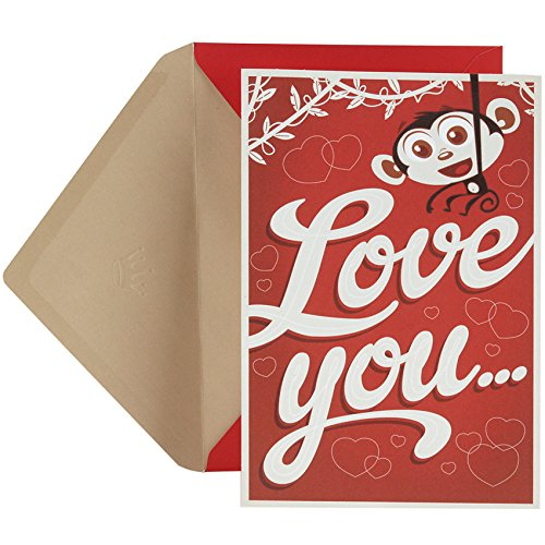 Hallmark Valentine's Day Greeting Card (Monkey)