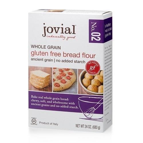 Jovial Flour ,Gluten Free, 24 Oz, ( Pack of 1) (NEW-Bread Flour ( Whole Grain )) (Flour Wheat No)