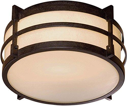 Minka Lavery 72029-179-PL Andrita Court Outdoor Flush Mount, 1-Light 26 Watts, Textured French -