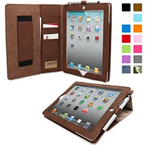 iPad 2 Case, Snugg™ - Executive Smart Cover With Card Slots & Lifetime Guarantee (Camo Leather) for Apple iPad 2