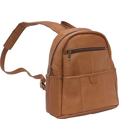 Le Donne Leather Quick Slip Womens Backpack (Tan)