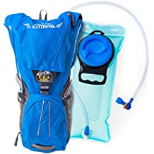 D.N.A nature Hydration Backpack With 2L Water Bladder,Waterproof For Men,Women &Kids-Best for Running,Hiking,Cycling,skiing,camping with Waist &Shoulder straps, BPA free +product warranty (Blue color)