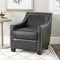 Safavieh Mercer Collection Leandro Club Chair, Antique Black