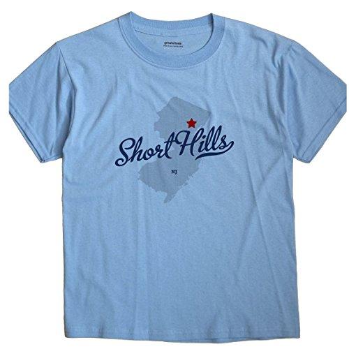 Short Hills New Jersey NJ MAP GreatCitees Unisex Souvenir T - Hill Jersey Short New