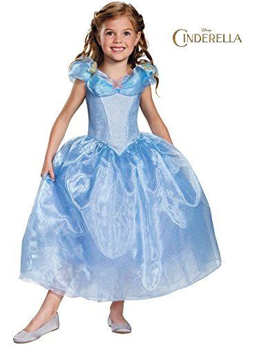Disguise Cinderella Movie Deluxe Costume, X-Small (3T-4T)