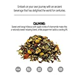 Relaxation and Sleep Tea UNPLUG by ekön   Soothes & Calms the Mind & Body   Relieves Anxiety & Aids With Sleep   Inspired for Men, Loved by Women with Hibiscus, Chamomile, Peppermint   30 day Supply