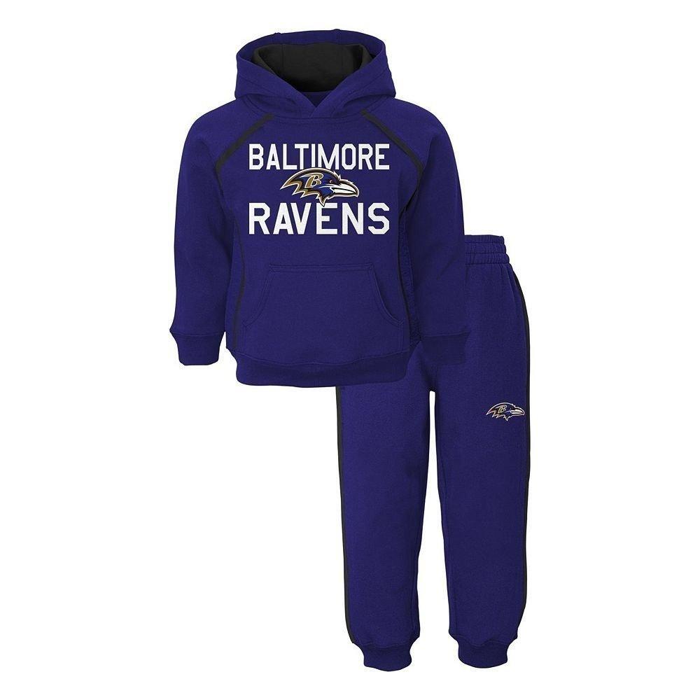 Baltimore RavensパープルブラックNFL幼児用クラシックファンフリースパーカー&パンツセット Toddler 2T  B01N3SMAHP