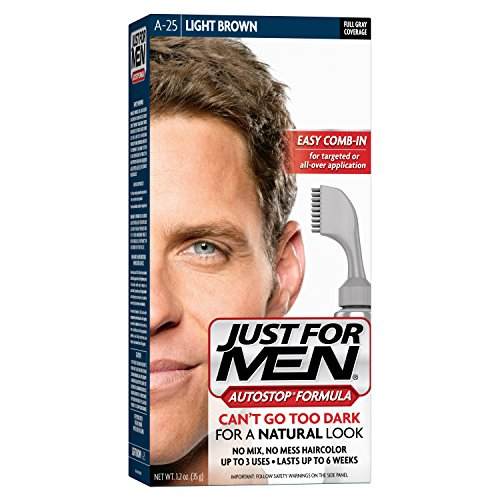 Just For Men AutoStop Men's Hair Color, Light Brown (Mens Light Brown Hair Dye compare prices)