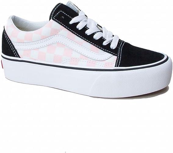 Amazon.com | Vans Old Skool Chex Platform Skate Shoe (Men's ...