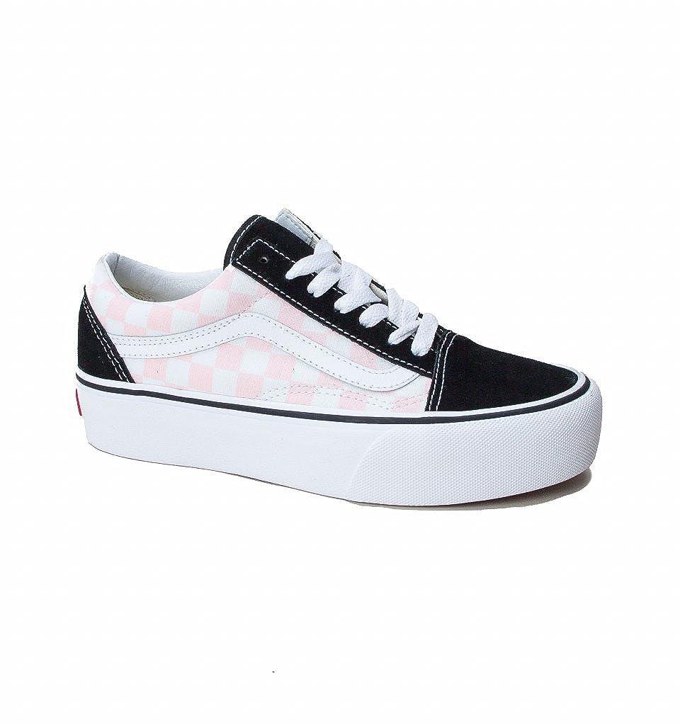 Vans Old Skool Platform (Checkerboard) - Black Pink White (W 9 M 7.5)   Amazon.co.uk  Shoes   Bags 6eebfd747