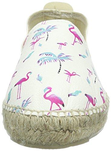 Pink MANEBI Femme Espadrilles Springs Flamingos Rose Palm wqXaAqH