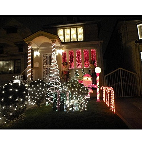 Solar powered rope lights for outdoor Christmas decorations