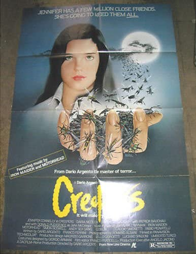 CREEPERS / ORIG. U.S. ONE-SHEET MOVIE POSTER (DARIO ARGENTO \u0026 JENNIFER  CONNELLY) at Amazon's Entertainment Collectibles Store