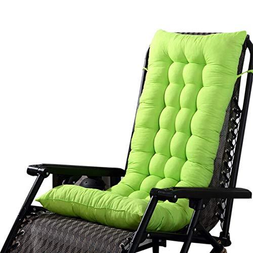 Marbeine - Cojín de Asiento para sillas, sillones o tumbonas de jardín, terraza Gruesa para Exterior, Funda de 125 x 48 x 8 cm, Azul