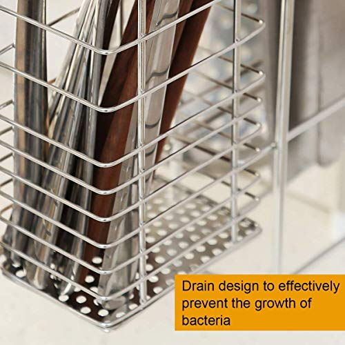 1208S 2-Tier Stainless Steel Dish Drying Holder Rack (Double Groove-Two-layer) by 1208S (Image #4)