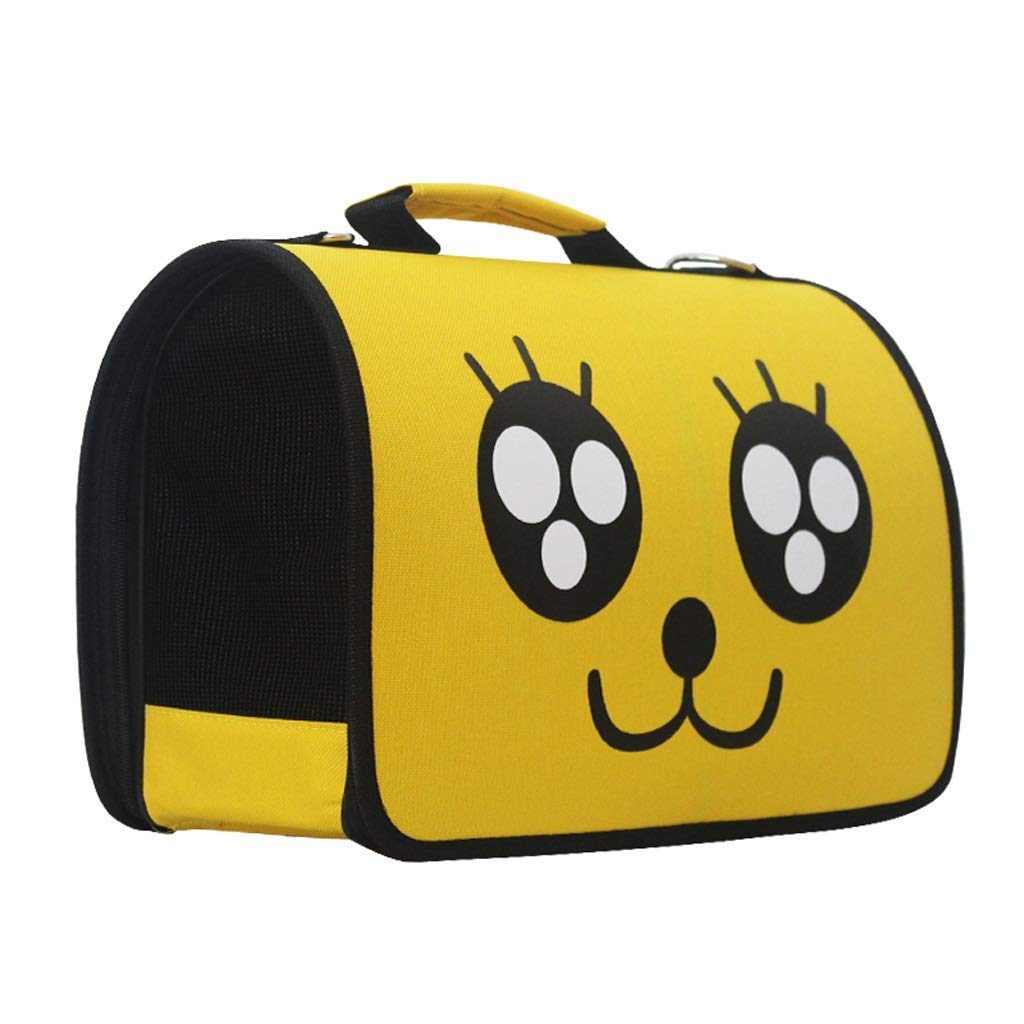 L SXHDMY-Pet bag Pet Backpack Out Carrying Bag Breathable Backpack Pet Bag (Yellow) (Size   L)