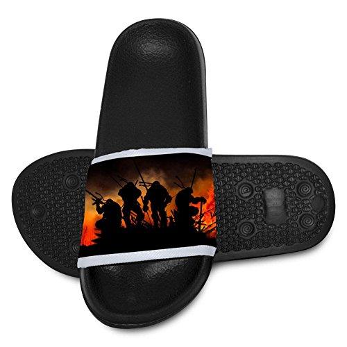 Chengquw Ninja Shadow Children's Bath Slipper Anti-Slip for Indoor Home House Sandal for $<!--$18.23-->