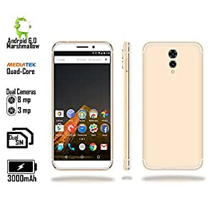 "Indigi 4G LTE GSM Unlocked 5.6"" SmartPhone (Android 6.0 Nougat + Quad Core @ 1.3Ghz + Fingerprint)"