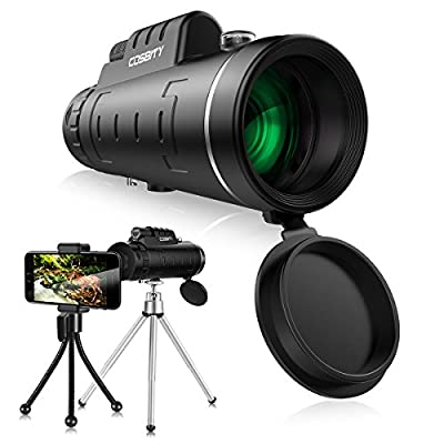 Monocular Telescopes, 12x50 Dual Focus Waterproof Spotting Scopes, Low Night Vision with Phone Clip and Tripod for Cell Phone-for Bird Watching, Hunting, Camping, Hiking, Outdoor, Surveillance