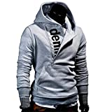 Shubuy 2018 Hot Sale Mens Shirt, Mens' Long Sleeve Hoodie Hooded Sweatshirt Tops Jacket Coat Outwear (Dark Gray, L)