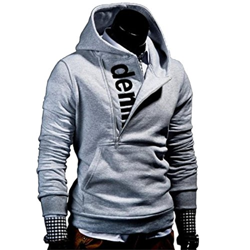 Shubuy 2018 Hot Sale Mens Shirt, Mens' Long Sleeve Hoodie Hooded Sweatshirt Tops Jacket Coat Outwear (Dark Gray, L) by Shubuy