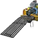 "108"" Black Widow 3-Piece Heavy Duty Folding Arched Motorcycle Ramp"