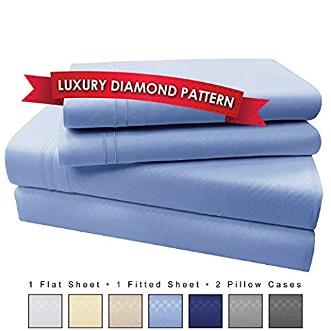 4 Piece Premium Luxury Microfiber Bed Sheet Set- SLEEP BETTER THAN EVER, Ultra Soft Luxury - Egyptian Quality 1600 Series Collection by My Perfect Nights (Queen, Light (Ever Tough)