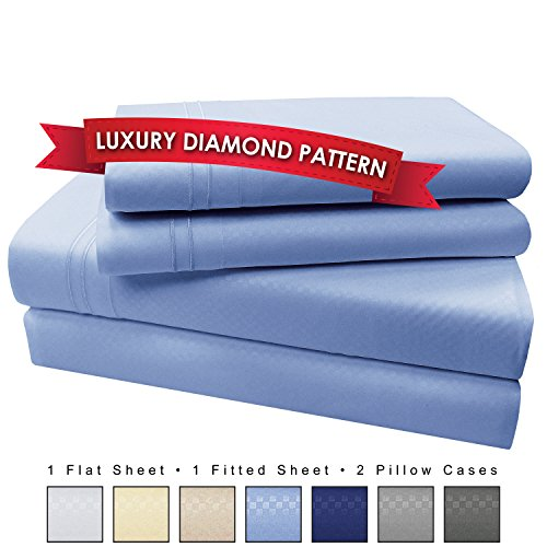 4 Piece Premium Luxury Microfiber Bed Sheet Set- SLEEP BETTER THAN EVER, Ultra Soft Luxury - Egyptian Quality 1600 Series Collection by My Perfect Nights (Queen, Light Blue) (My Your Side Sheets Side Bed)