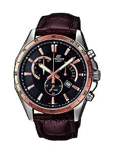 Casio Edifice – Reloj Hombre Analógico con Correa de Cuero Auténtico – EFR-510L-5AVEF