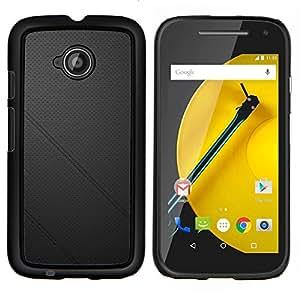 """Motorola Moto E2 / E(2nd gen), JackGot - Impreso colorido protector duro espalda Funda piel de Shell (Cuero negro"""")"""