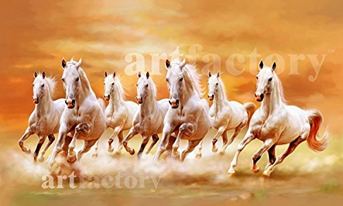 The Art Factory Art Factory Seven Horse Vaastu Painting (7 Running Horses)