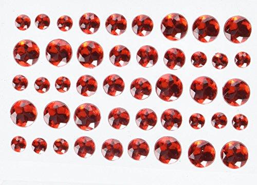 Doodlebug Adhesive Jewels 45/Pkg-Ladybug