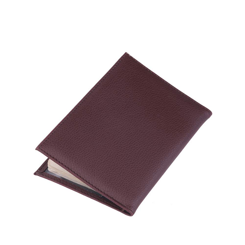 Passport Covers PU Leather Passport Holder Cover Case RFID Blocking Travel Wallet Coffee EU France