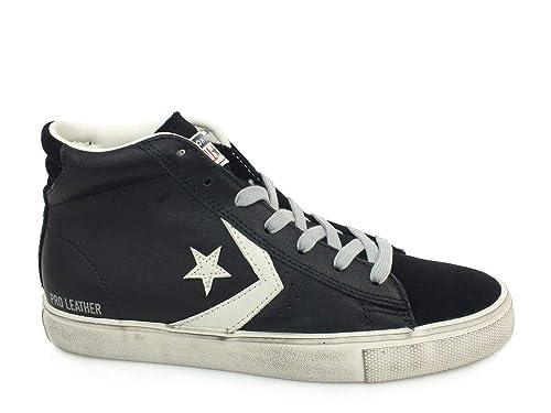 Converse Lifestyle Pro Leather Vulc Distressed Mid, Zapatillas Unisex niños: Amazon.es: Zapatos y complementos