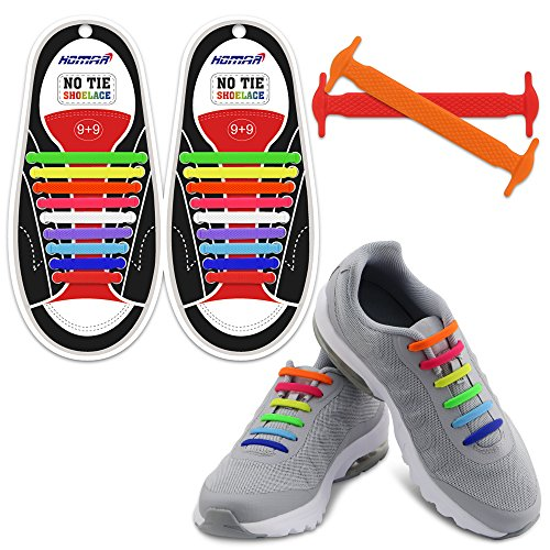 Homar Adult Elastic No Tie Athletic Shoelaces - Best in Sports Fan...