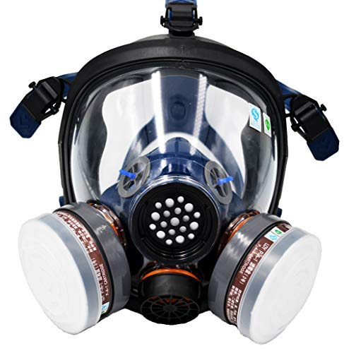 SCK Full Face Organic Vapor Respirator,Professional Mask with Double Activated Air Filter,Widely Used in Organic Gas,Paint spary, Chemical,Woodworking,Dust Protections,etc