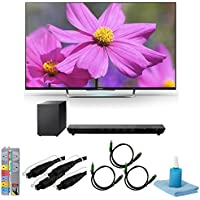 KDL55W800B - 55-Inch Premium LED HDTV 3D Built-In WiFi Motionflow with HT-ST5 Sound Bar Bundle. Bundle includes TV, sound bar with wireless subwoofer, outlet surge strip, screen cleaner, 2 6ft optical audio cables, and 3 6ft HDMI cables.