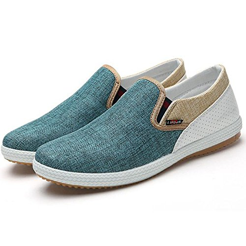 Zapatos y Zapatos Verde de Casuales del Respirables Hombres velero Lino los de AnwqxAFrYH